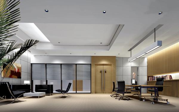 100平米办公室效果图