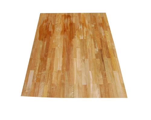柚木拼接地板(铺好后的效果图,未上漆)