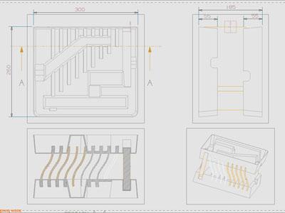 简单的纸质包装结构平面图